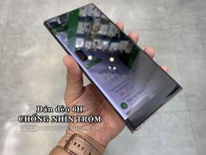 Dán màn hình Galaxy Note 20 Ultra - chống nhìn trộm (dẻo, dày 6H)